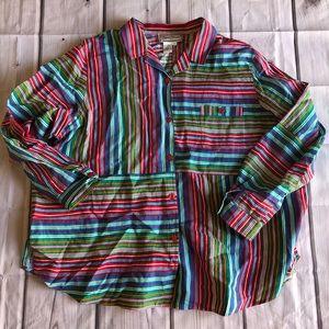 Diane Gilman 100% Linen 3X Blouse Shirt New